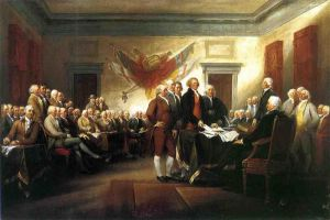 The Declaration of Independence -   John Trumbull Oil Painting