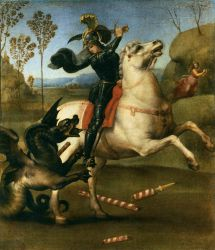 St. George and the Dragon - Raffaello Sanzio Raphael Oil Painting