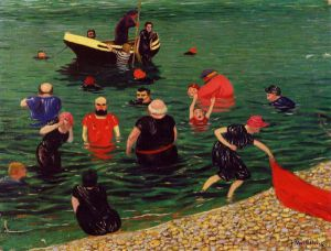 Bathing - Oil Painting Reproduction On Canvas
