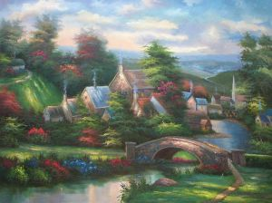 Lamplight Village - Oil Painting Reproduction On Canvas