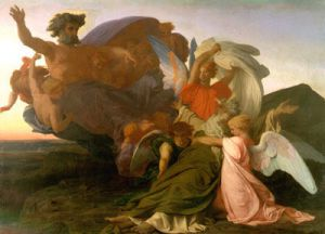 Death of Moses - Alexandre Cabanel Oil Painting,