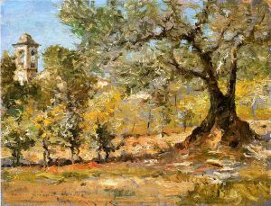 Olive Trees, Florence - William Merritt Chase Oil Painting