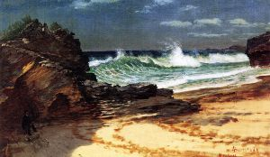 Beach at Nassau - Albert Bierstadt Oil Painting