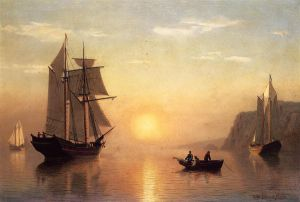 Sunset Calm in the Bay of Fundy - William Bradford Oil Painting