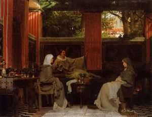Venantius Fortunatus Reading His Poems to Radegonda VI - Sir Lawrence Alma-Tadema Oil Painting