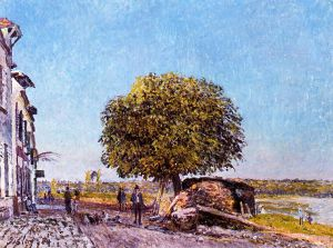 Chestnut Tree at Saint-Mammes - Alfred Sisley Oil Painting