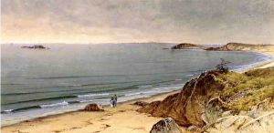Indian Rock, Narragansett Bay - Alfred Thompson Bricher Oil Painting