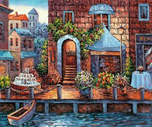 Garden by the Dock - Oil Painting Reproduction On Canvas