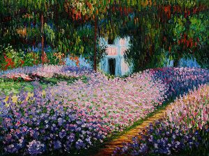 Artist's Garden at Giverny II - Claude Monet Oil Painting