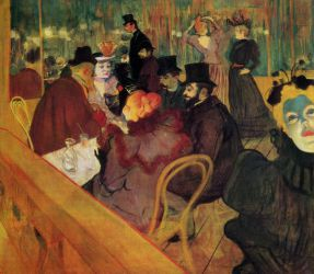 At the Moulin Rouge - Henri De Toulouse-Lautrec Oil Painting