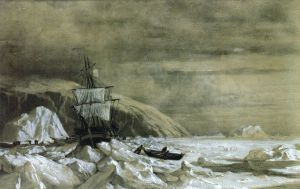 Locked In-Baffin Bay - William Bradford Oil Painting