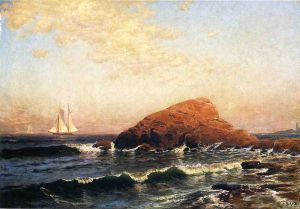 Little Bass Rock, Narragansett, RI - Alfred Thompson Bricher Oil Painting