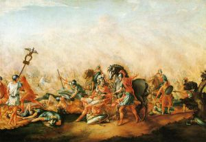 The Death of paulus Aemilius at the Battle of Cannae - John Trumbull Oil Painting