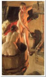 Women Bathing in the Sauna - Anders Zorn Oil Painting