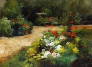 Garden - Gustave Caillebotte Oil Painting