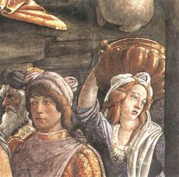 The Trials and Calling of Moses (detail 5) (Cappella Sistina, Vatican) - Sandro Botticelli oil painting
