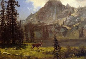 Call of the Wild - Albert Bierstadt Oil Painting