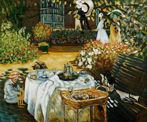 The Luncheon II - Claude Monet Oil Painting
