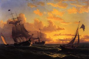 Fresh Breeze of Sandy Hook - William Bradford Oil Painting