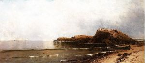Rocky Seacoast II - William Trost Richards Oil Painting