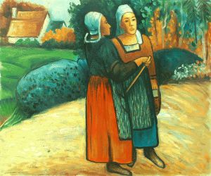 Two Breton Women on the Road - Oil Painting Reproduction On Canvas
