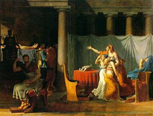 The Lictors Bring to Brutus the Bodies of His Sons - Jacques-Louis David Oil Painting