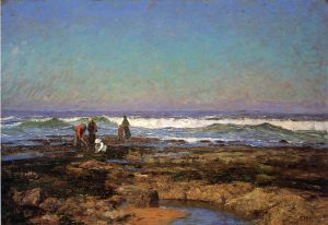 Clam Diggers - Oil Painting Reproduction On Canvas