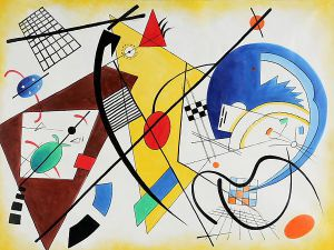 Throughgoing Line II - Wassily Kandinsky Oil Painting