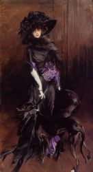 Portrait of the Marchesa Luisa Casati, with a Greyhound - Oil Painting Reproduction On Canvas