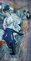 Jane Avril Dancing - Henri De Toulouse-Lautrec Oil Painting