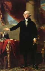George Washington (The Landsdowne Portrait) II - Gilbert Stuart Oil Painting