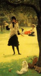 Croquet - Oil Painting Reproduction On Canvas