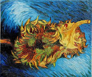 Two Sunflowers II - Vincent Van Gogh Oil Painting