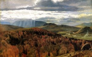 Autumn Landscape-Shelburne, VT - John George Brown Oil Painting