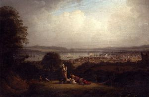 View of Greenock, Scotland, and the Bay of St. Lawrence - Robert Salmon Oil Painting