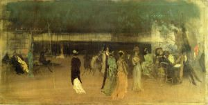 Cremorne Gardens, No. 2 - James Abbott McNeill Whistler Oil Painting,