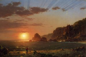 Grand Manan Island, Bay of Fundy - Frederic Edwin Church Oil Painting