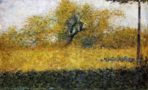 Edge of Wood, Springtime - Georges Seurat Oil Painting
