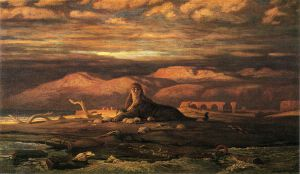 The Sphinx of the Seashore - Elihu Vedder Oil Painting