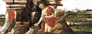 St Jerome in Penitence (San Marco Altarpiece) - Sandro Botticelli oil painting