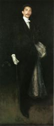 Arrangement in Black and Gold: Comte Robert de Montesquiou-Fezensac - James Abbott McNeill Whistler Oil Painting