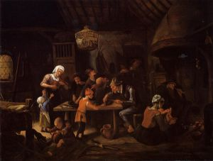 The Lean Kitchen - Jan Steen oil painting