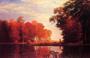 Autumn Woods - Albert Bierstadt Oil Painting