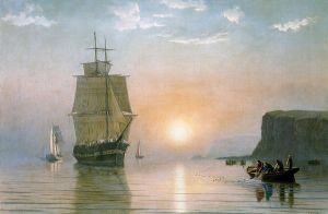 Sunrise off Grand Manan - William Bradford Oil Painting