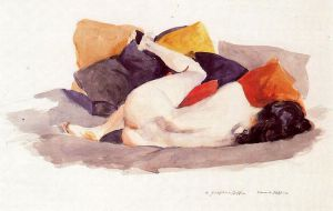 Reclining Nude - Edward Hopper Oil Painting