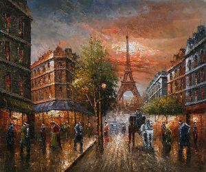 Au Revoir To The Light of Paris II - Oil Painting Reproduction On Canvas