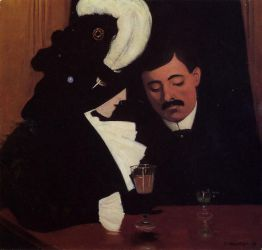 At the Cafe - Felix Vallotton Oil Painting