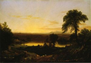 Summer Twilight: A Recollection of a Scene in New England - Thomas Cole Oil Painting