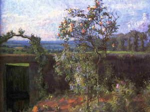 Landscape near Yerres - Gustave Caillebotte Oil Painting