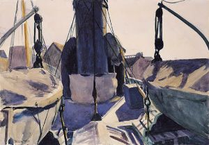 Funell of Trawler - Edward Hopper Oil Painting